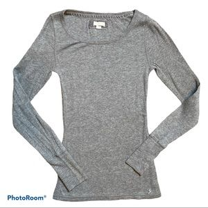 Women's Aerie waffle knit thermal long sleeve top